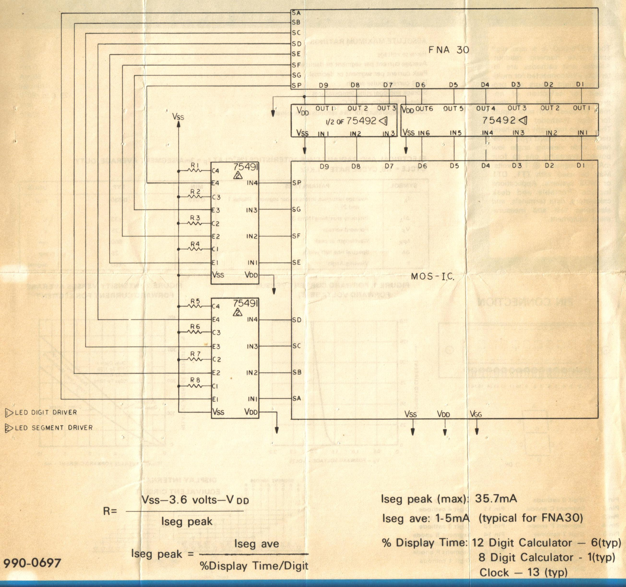 Led Wiring Diagram Calculator Schematic For An Un Named Mos Chip And The Required Driver Chips