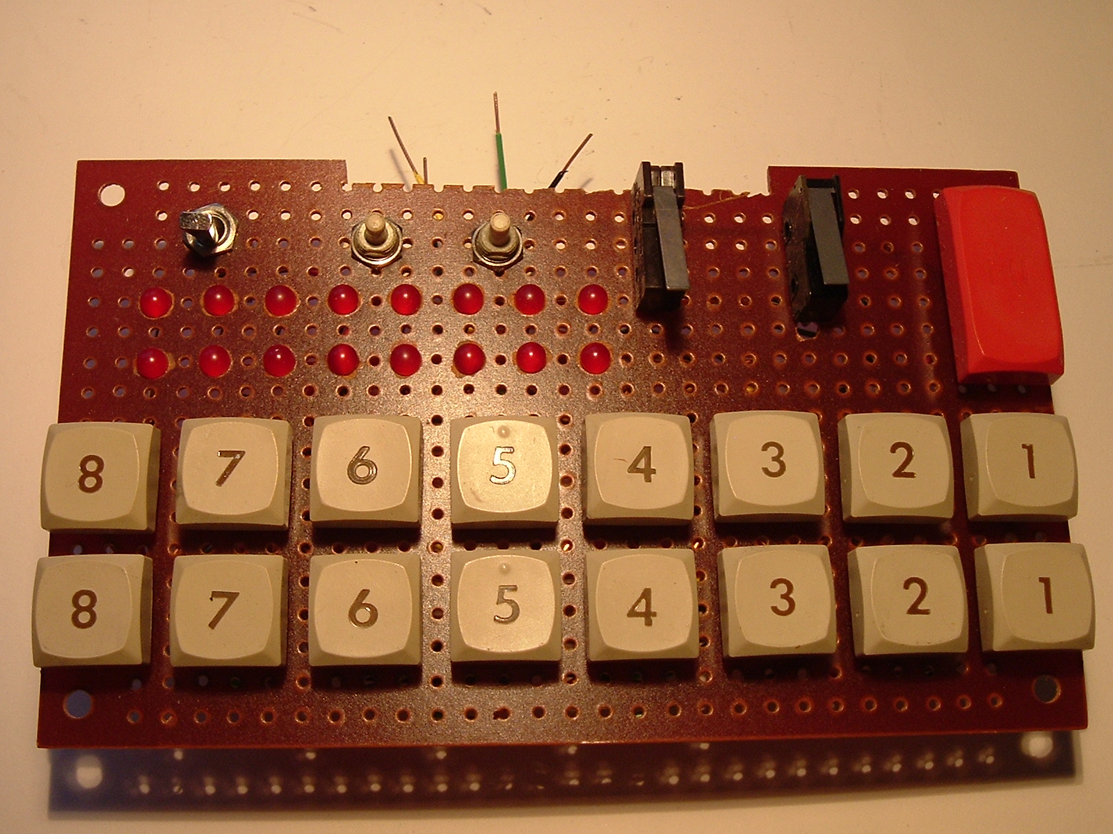 Led Bcd To Sevensegment Decoder With A Seven Segment Display I Made This Panel Long Ago Probably For Homebrew Eprom Programmer Step Up From The One Classmate Using Only Toggle Switches